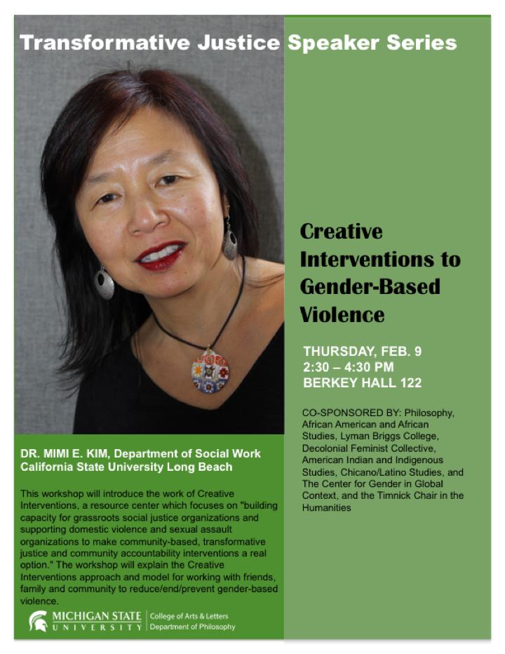 TJ Speaker Series: Mimi Kim Event Flyer